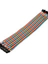 40pin 1P-1P Kvinna till Kvinna Dupont Linje Colorful Dupont Wire (30cm)