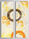 Peint a la main Abstrait Verticale Deux Panneaux Toile Peinture a l\'huile Hang-peint For Decoration d\'interieur