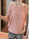 Femei cutwork croșetat jos puloverul Umăr