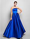Linia -A Fără Bretele Lungime Podea Satin Bal Seară Formală Bal Militar Rochie cu Pliuri de TS Couture®