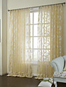 Sheer Curtains Shades Bedroom Poly / Cotton Blend Jacquard