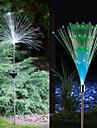 2pcs lumini de gradina / Lumini de gazon 1 LED-uri de margele LED Putere Mare Decorativ Multicolor