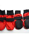 Câine Pantofi & Cizme Impermeabil Solid Rosu Albastru Pentru animale de companie