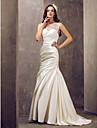 Mermaid / trompeta iluzia neckline rochie de mireasa / perie tren de nunta cu aplicatii de lan ting bride®