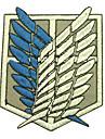Shingeki Pas Kyojin Attaque sur Titan Recon Corps Logo Cosplay Tissu brodé Patch