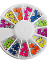 Mixed Candy Color Fluorescent Stjärnformade Nail Art Dekorationer
