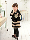 Fata de gât Stripes Print adorabil Îmbrăcăminte Set