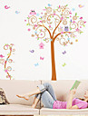 Animal Uggla Scroll Tree Removable Wall Sticker