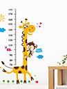 girafa monitorului de măsurare de desene animate de animale autocolante de înălțime pentru copii detașabile dormitor copil