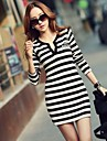 Femei Stripe Bodycon Dress