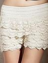 Straturi de femei Dantela Shorts