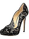 Pantofi pentru femei - Imitație de Piele - Toc Stiletto - Decupați - Pantofi cu Toc - Rochie - Negru