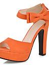 Imitație de piele pentru femei toc Chunky Platforma Sandale Pantofi (Mai multe culori)