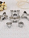 Stainless Steel Butterfly Cookie Forma Mold Set de 6 piese