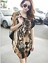 Plus Size Tiger Print lung T-shirt