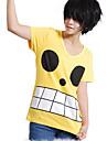 Inspirat de One Piece Monkey D. Luffy Anime Costume Cosplay Topuri Cosplay / Bottoms Imprimeu Tricou Pentru Bărbați