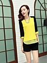 femei contrast sifon de culoare bluză