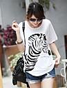Femei de înaltă calitate de imprimare cu maneci scurte T-Shirt Modal Stretch libere Big Yards Zebra T-Shirt