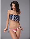 Femei bandeau ciucuri Stripe Bikini