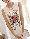 Femei solid Culoare Print moda Maieuri șifon Shirt