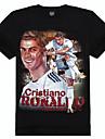 m-imperiu bumbac celebritate fotbal imprimate t-shirt