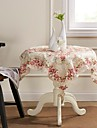 Rose lourd broderie guipure Carré Nappe