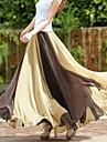 Femei Bohemian Fashion Casual Hem mare dungi șifon lung fusta