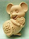 formă de coacere în formă de șoarece, w9.5cm x l7.1cm x h3.7cm bakewares bucătărie& mese