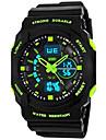 SKMEI Bărbați Ceas Sport Alarmă / Calendar / Rezistent la Apă Cauciuc Bandă Negru / Luminos / Zone Duale de Timp  / Cronometru / Doi ani / Maxell626 + 2025