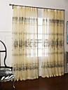 Două Panouri Tratamentul fereastră Țara Dormitor Poliester Material Sheer Perdele Shades Pagina de decorare For Fereastră