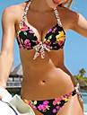 Dame Amestecuri Bumbac Push-up Cu Susținere,Bikini Animal Floral
