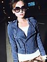 Femei Denim Jeans Coat Motociclete Blazer Jacheta