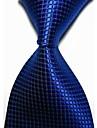 Pentru bărbați solid Verificat microfibra Tie Cravată (9 culori cu marfa)