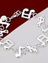 Kedje & Länk Armband Unik design Gulligt Fest Mode Mässing Försilvrad Andra Musiknot Smycken Party Gåva Valentine Kostymsmycken
