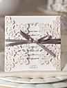 """pliat în formă de poartă Invitatii de nunta Invitații Stil Floral Hârtie cărți de masă 6""""×6"""" (15*15cm) Funde Panglici"""