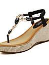 pantofi de femei glezna margele sandale curea pană toc (mai multe culori disponibile)