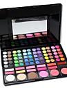 professionell 78 färg ögonskugga& fundament& rouge palett med spegel&svampapplikatorn smink uppsättning