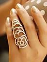 Pentru femei Inele Afirmatoare Design Unic European costum de bijuterii La modă Cristal Ștras Flower Shape Rose Bijuterii Pentru Nuntă