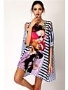 Femei elegant Sexy Blue & White Stripe Beauty Icon Sun Prevenirea fara bretele Jupe