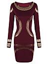 Lishang Print Elegant montate OL vin manta Dress