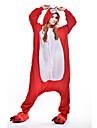 Kigurumi Pijamale Viulpe Costume Roșu Lână polară Kigurumi Leotard / Onesie Cosplay Festival / Sărbătoare Sleepwear Pentru Animale