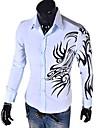 yess nou stil de moda model dragon imprimat cămașă subțire (albastru deschis, alb, negru, roșu)