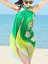 Femei elegant colorat de imprimare șifon Beach prosoape Cover-up