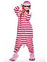 Pijama Kigurumi Pisici Pijama Întreagă Costume Lână polară Roz Cosplay Pentru Sleepwear Pentru Animale Desen animat Halloween Festival /