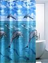 tryckt delfin vattenavvisande polyester duschdraperi