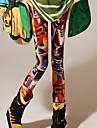 Coway Women's Non Mainstream Graffiti Milk Print Leggings