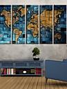 Stretchad Kanvastryck Kanvas set Kartor Fem paneler Vertikal Tryck väggdekor Hem-dekoration