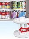 poate organizator de stocare alb plastic 2 straturi detașabil 14 capacitate rotație tamer 360 raft spin