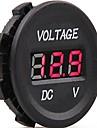 dc 12v-24v carro digital de tensao LED voltagem eletrica indicador medidor monitor tester
