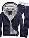Men's Hooded Warm Fleece Suits